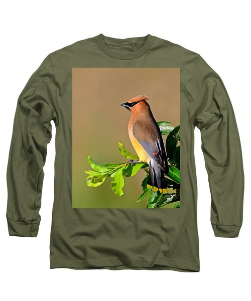 Cedar Waxwing Long Sleeve T-Shirt