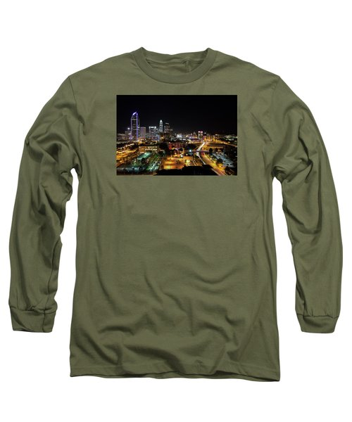 Charlotte Skyline Long Sleeve T-Shirt by Serge Skiba