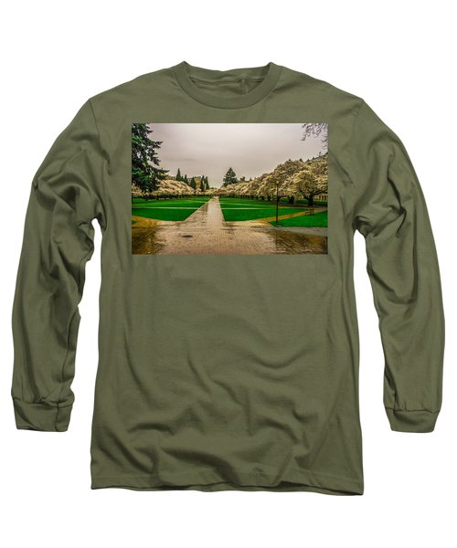 Long Sleeve T-Shirt featuring the photograph Cherry Blossoms by Jerry Cahill