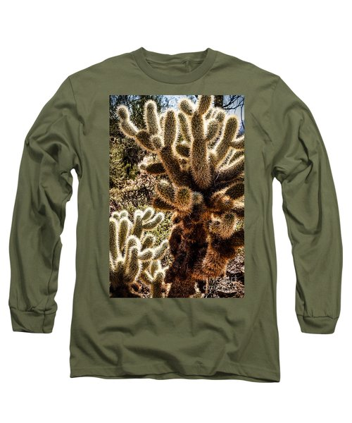 Long Sleeve T-Shirt featuring the photograph Cholla Cacti by Lawrence Burry