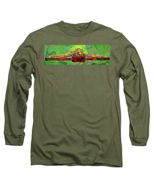 Christ In Stained Glass Long Sleeve T-Shirt
