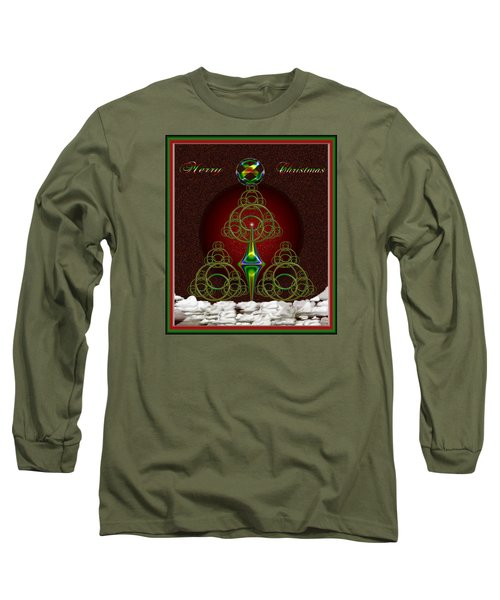 Christmas Greetings Long Sleeve T-Shirt by Mario Carini