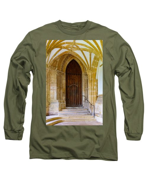 Cloisters, Wells Cathedral Long Sleeve T-Shirt by Colin Rayner
