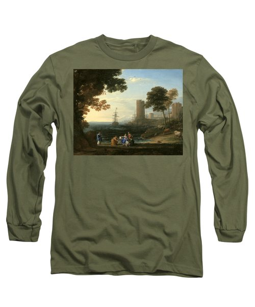 Coast View With The Abduction Of Europa Long Sleeve T-Shirt