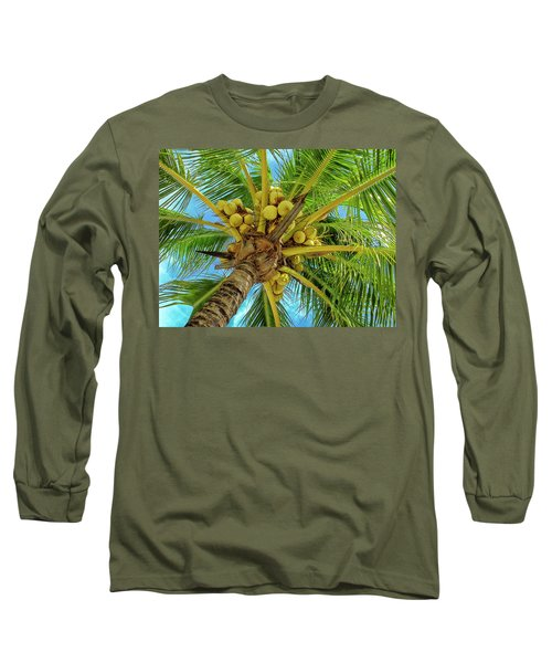 Coconuts In Tree Long Sleeve T-Shirt