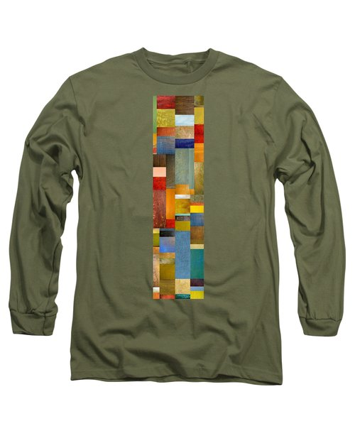 Color Panels With Blue Sky Long Sleeve T-Shirt