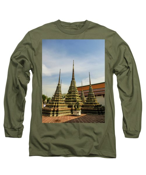 Colorful Stupas At Wat Pho Temple Long Sleeve T-Shirt