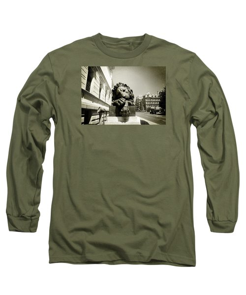 Corcoran Lion Long Sleeve T-Shirt by Victoria Lakes