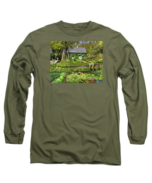 Cottage In The Green Long Sleeve T-Shirt