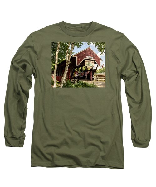 Covered Bridge Gift Shoppe Long Sleeve T-Shirt by Sherman Perry