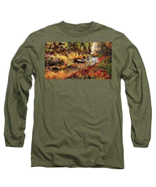 Dead River Falls  Marquette Michigan Long Sleeve T-Shirt