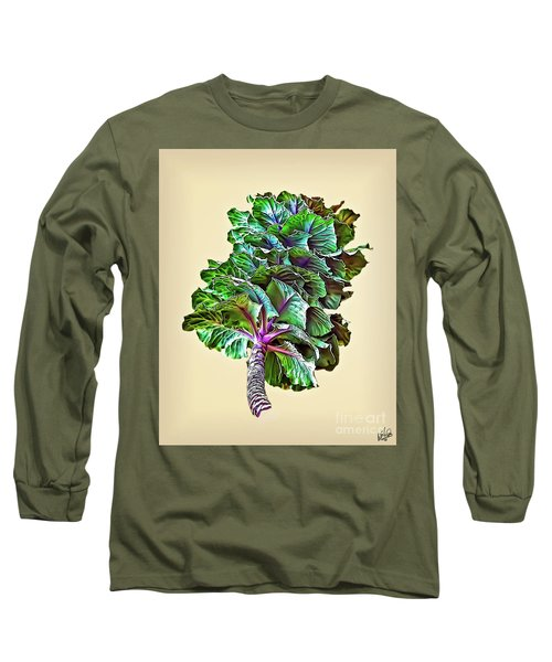 Long Sleeve T-Shirt featuring the photograph Decorative Cabbage by Walt Foegelle