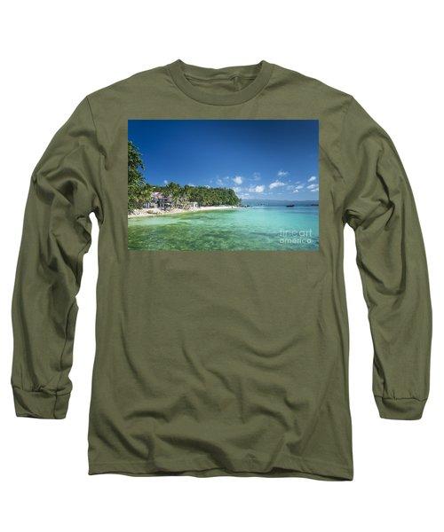 Diniwid Beach In Tropical Paradise Boracay Philippines Long Sleeve T-Shirt