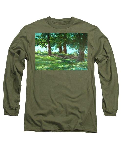 Dreaming On Fellows Lake Long Sleeve T-Shirt by Jan Bennicoff