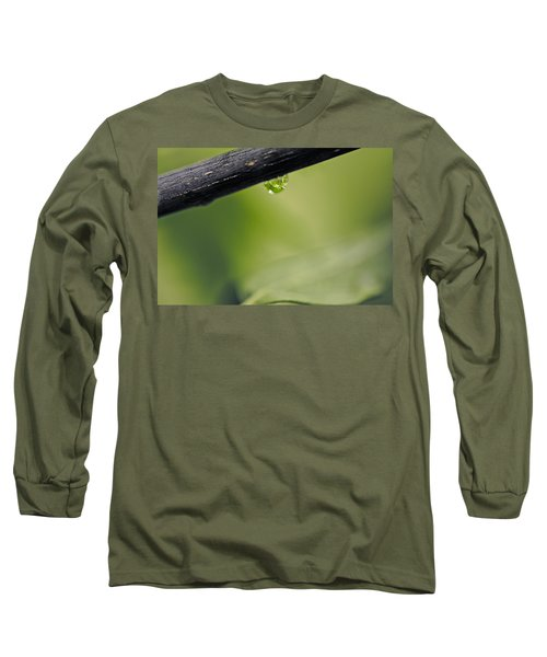 Long Sleeve T-Shirt featuring the photograph Droplet by Cendrine Marrouat
