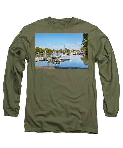 Early Fall Day On Spa Creek Long Sleeve T-Shirt