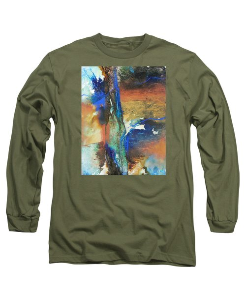 Electric And Warm Long Sleeve T-Shirt by Becky Chappell