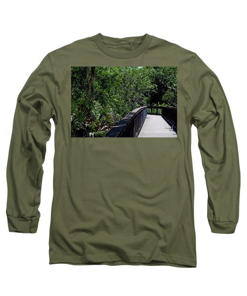 Long Sleeve T-Shirt featuring the photograph Enchanted Walk by Gary Wonning