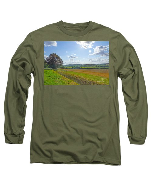 English Countryside Long Sleeve T-Shirt by Andrew Middleton