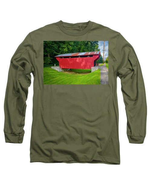 Feedwire Covered Bridge - Carillon Park Dayton Ohio Long Sleeve T-Shirt