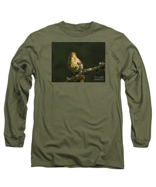 Long Sleeve T-Shirt featuring the photograph Female House Finch by Inge Riis McDonald