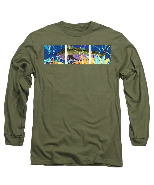 Long Sleeve T-Shirt featuring the mixed media Fiesta by Andrew Drozdowicz