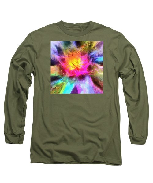Long Sleeve T-Shirt featuring the photograph Floral Mandala 01 by Jack Torcello