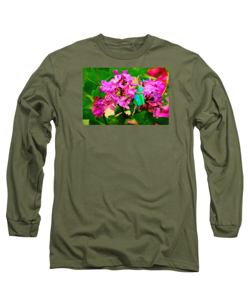 Flower Fairy  Long Sleeve T-Shirt by Andre Faubert