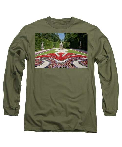 Flowerbeds And Sculptures In Eastern Parterre Long Sleeve T-Shirt