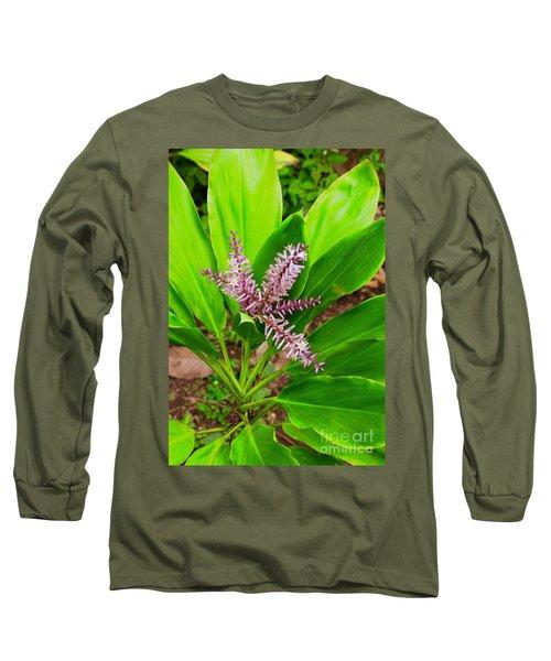 Flowering Ti Plant Long Sleeve T-Shirt