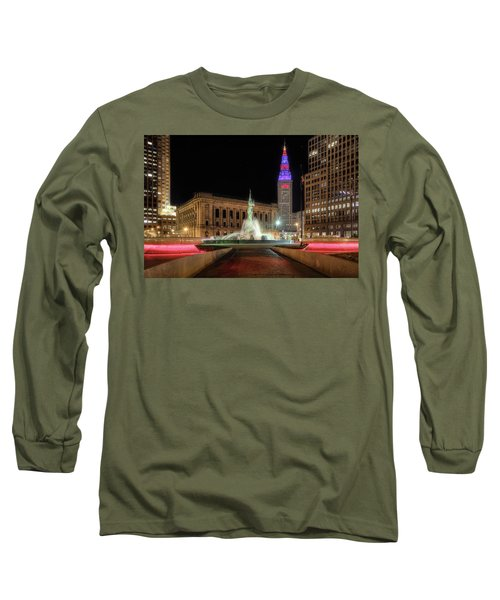 Long Sleeve T-Shirt featuring the photograph  Fountain Of Eternal Life by Brent Durken