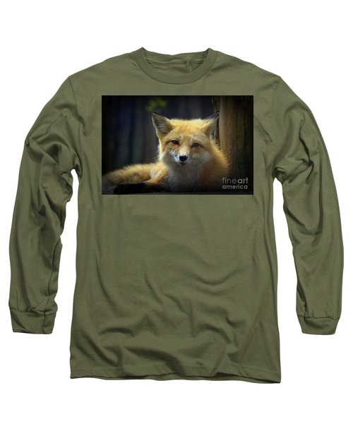Long Sleeve T-Shirt featuring the photograph Fox by Lisa L Silva