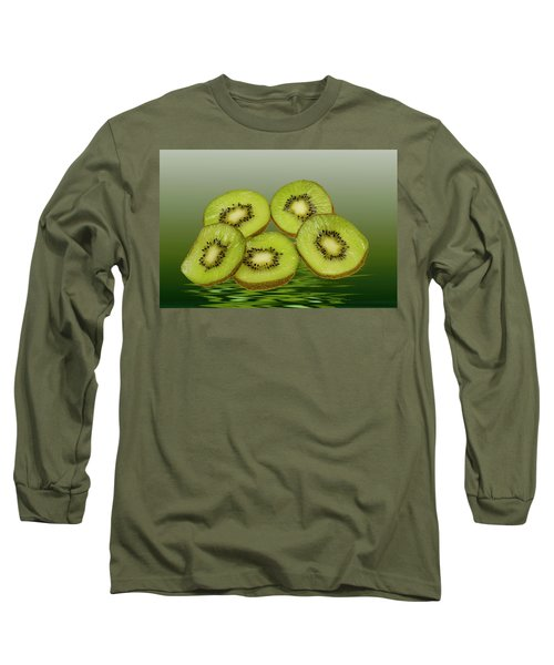 Fresh Kiwi Fruits Long Sleeve T-Shirt by David French