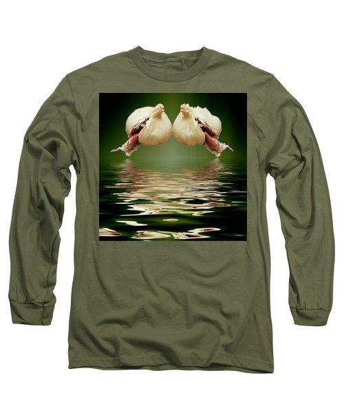 Long Sleeve T-Shirt featuring the photograph Garlic Cloves Of Garlic by David French