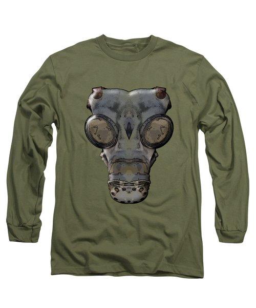 Gas Mask Long Sleeve T-Shirt by Michal Boubin