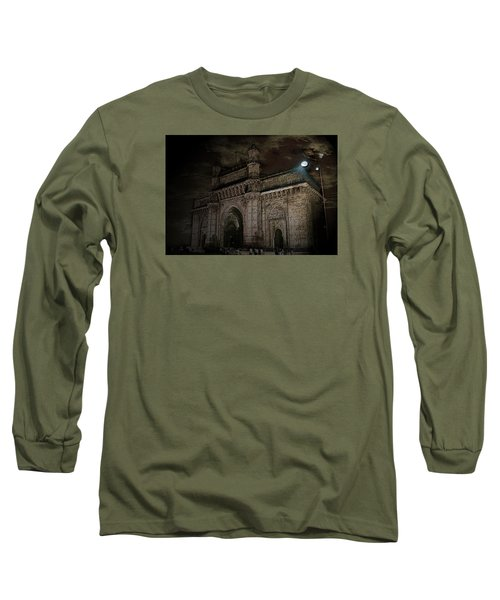 Gate Way Of India Long Sleeve T-Shirt by Manjot Singh Sachdeva
