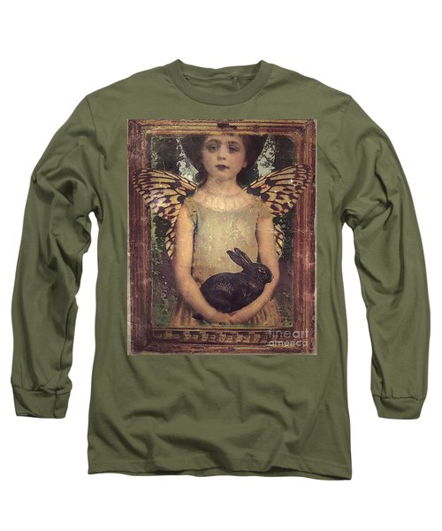 Girl In The Garden Long Sleeve T-Shirt by Alexis Rotella