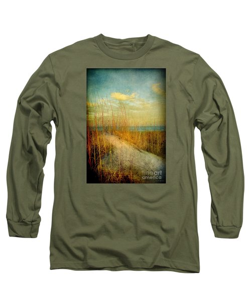 Golden Dune Long Sleeve T-Shirt by Linda Olsen