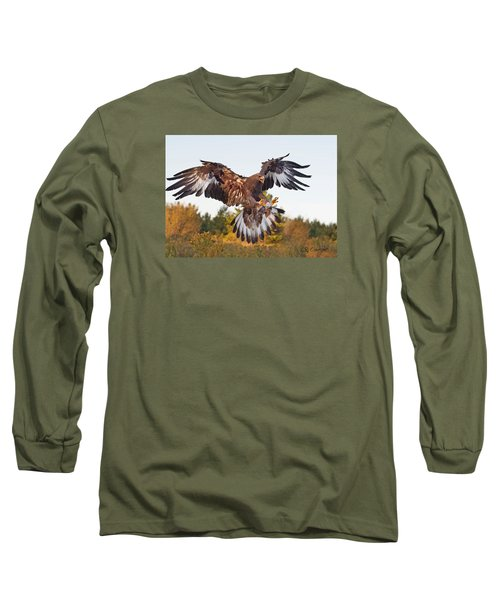 Golden Eagle Long Sleeve T-Shirt by CR  Courson