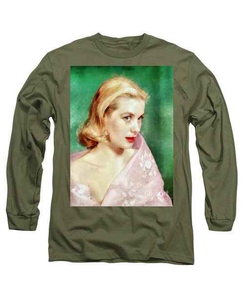 Grace Kelly By John Springfield Long Sleeve T-Shirt