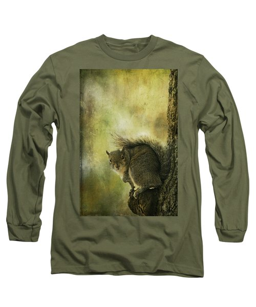 Gray Squirrel Long Sleeve T-Shirt