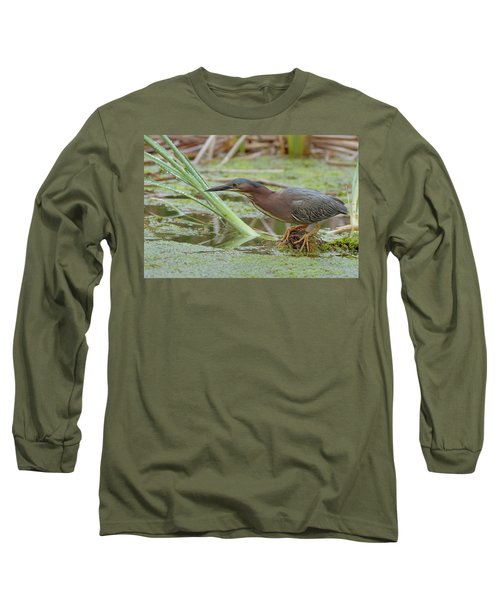 Green Heron Long Sleeve T-Shirt