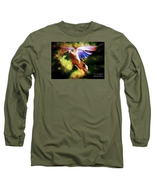 Guardian Angel Long Sleeve T-Shirt by Tina  LeCour