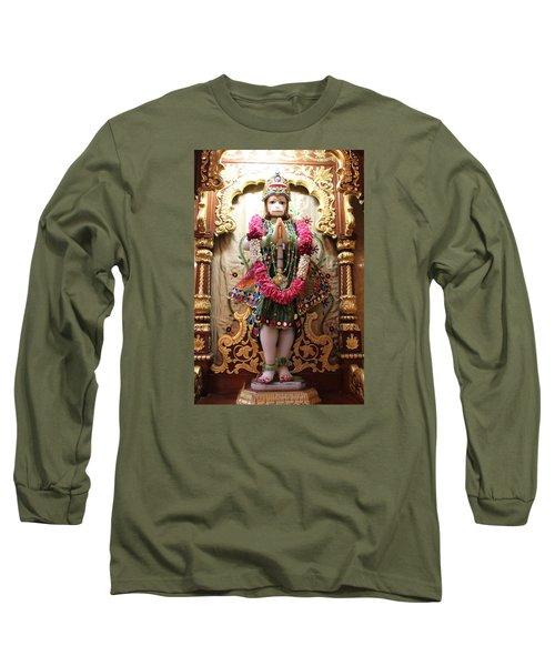Hanuman Ji, Radha Gopinath Mandir, Mumbai Long Sleeve T-Shirt