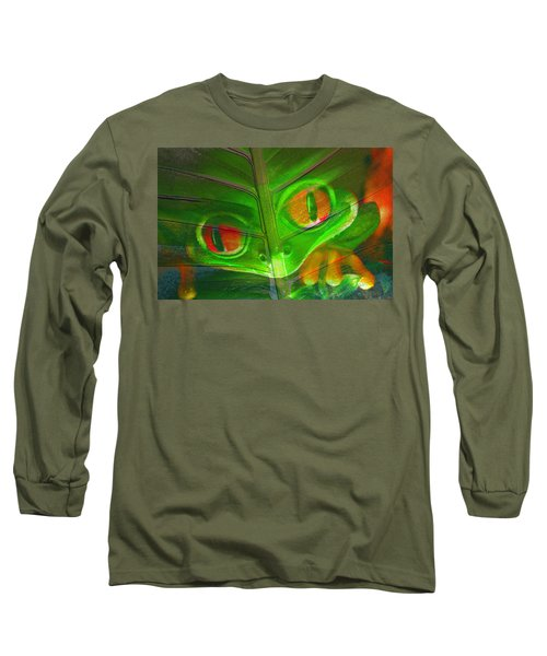 Happy Frog Long Sleeve T-Shirt by David Lee Thompson