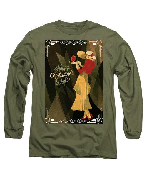 Long Sleeve T-Shirt featuring the digital art Happy Valentines Day by Jeff Burgess