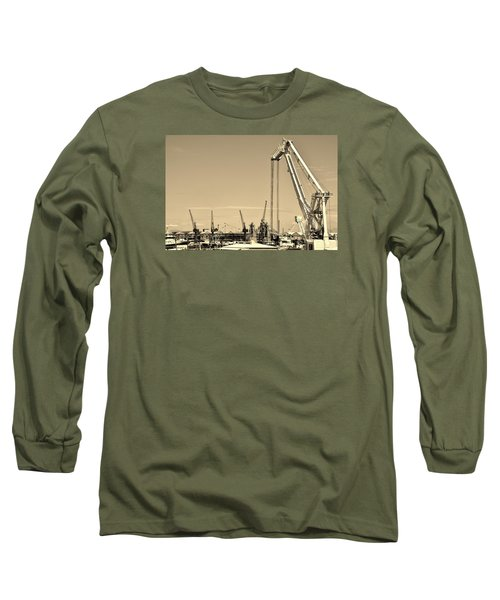 Long Sleeve T-Shirt featuring the photograph Harbor Impression by Werner Lehmann