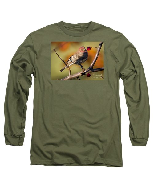 Long Sleeve T-Shirt featuring the photograph House Finch by Ricky L Jones