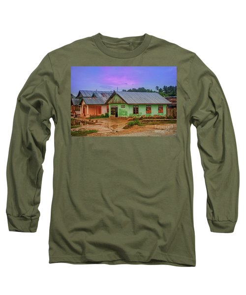 Long Sleeve T-Shirt featuring the photograph Houses by Charuhas Images