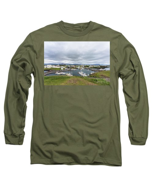 Iceland Fisherman Harbor Long Sleeve T-Shirt